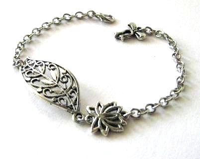 Leaf Jewelry Silver Antiqued Silver Filigree Leaf